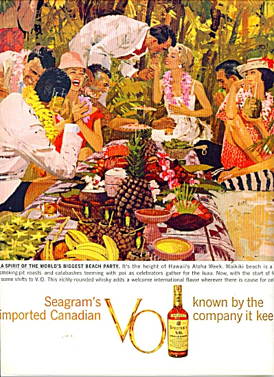 Seagrams imported Canadian VO. ad (Image1)