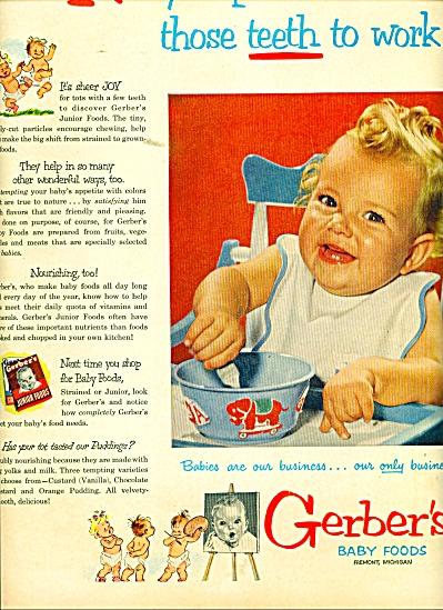 Gerber's Baby Foods ad (Image1)