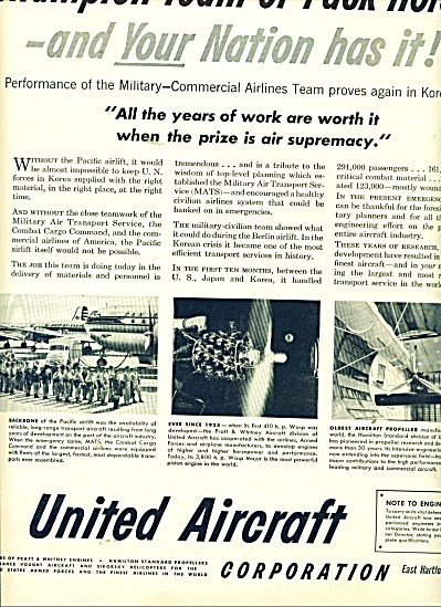 United Aircraft corporation ad (Image1)