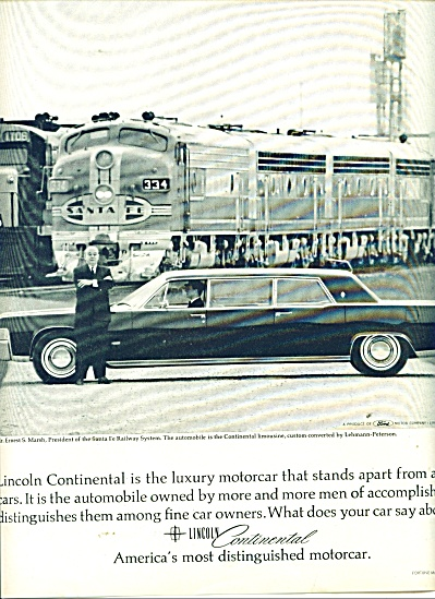 Lincoln Continental ad 1965 (Image1)