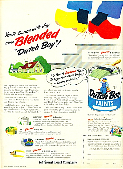 Dutch Boy Paints ad 1949 (Image1)