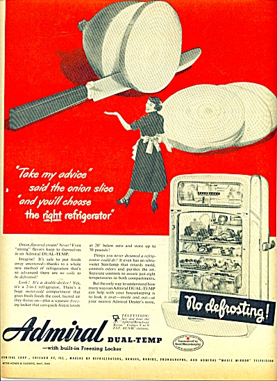 Admiral dual temp refrigerator ad 1949 (Image1)