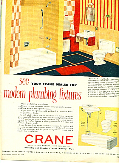 Crane plumbing and heating ad  1949 (Image1)