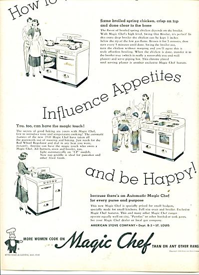 Magic Chef Range ad 1949 (Image1)