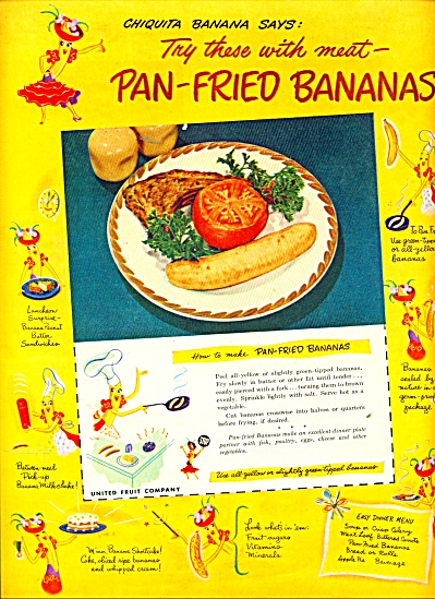 Pan Fried Bananas ad 1949 (Image1)