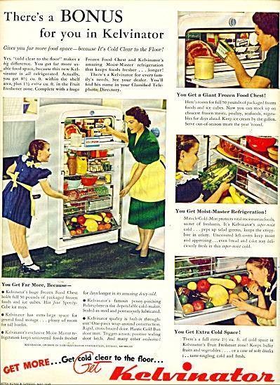 Kelvinator refrigerator ad 1949 (Image1)