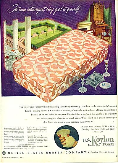 U. S. Koylon Foam ad 1949 (Image1)
