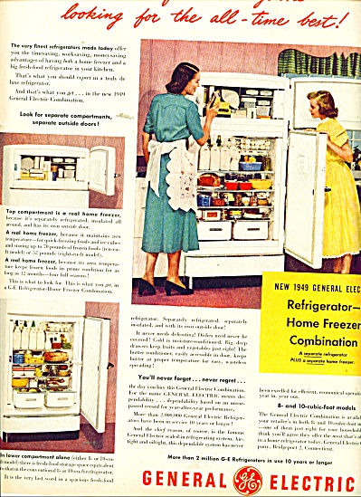 General Electric refrigerator ad 1949 (Image1)