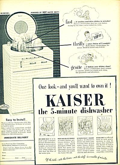 Kaiser dishwasher ad 1947 (Image1)