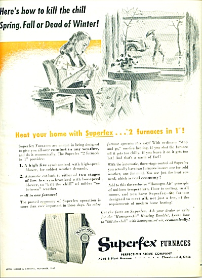 Superfex furnaces ad 1947 (Image1)
