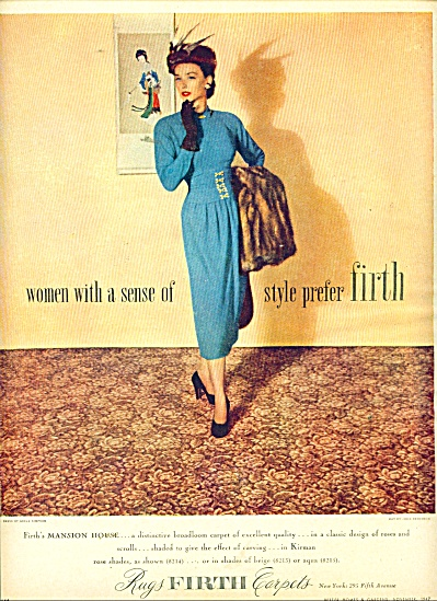 1947 Firth Rugs - Carpets AD STYLISH WOMAN (Image1)