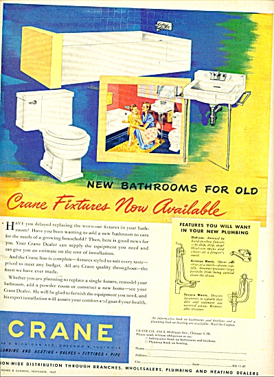 Crane Plumbing and heating ad 1947 (Image1)