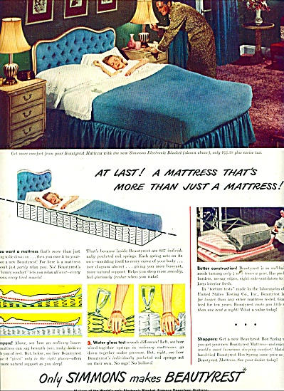 1947 Simmons Beautyrest mattress ad (Image1)