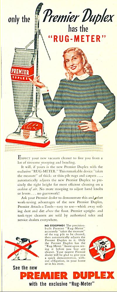 Premier Duplex rug meter ad 1947 (Image1)