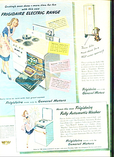 1947 Frigidaire Electric Cocker Spaniel Ad (Image1)
