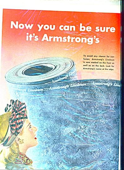 1947 Armstrong Cork Linoleum AD Vintage Desig (Image1)