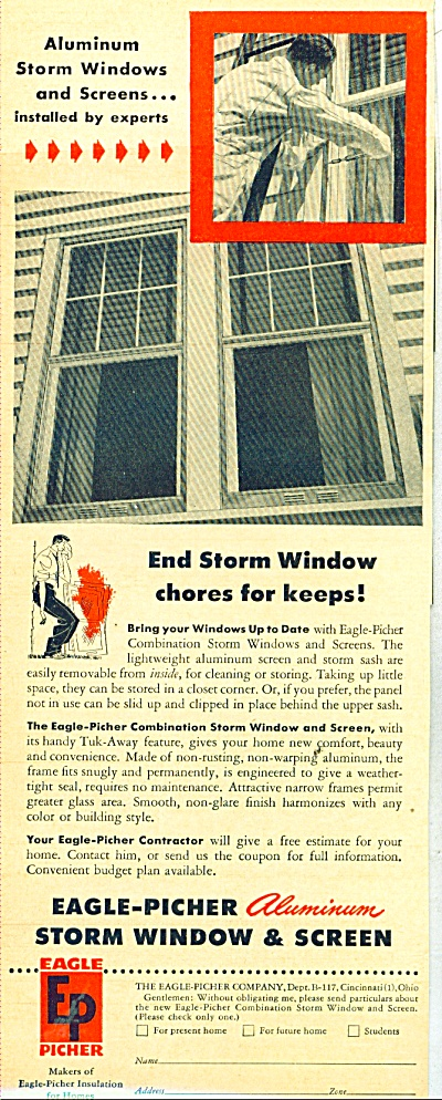 Eagle Picher aluminum storm windows ad 1947 (Image1)