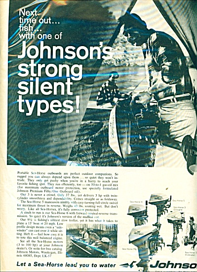 Johnson's Sea Horse motor ad 1967 (Image1)
