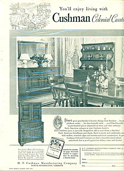 Cushman colonial creations ad 1949 (Image1)