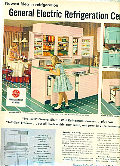 General Electric refrigeration Center ad 1957 (Image1)