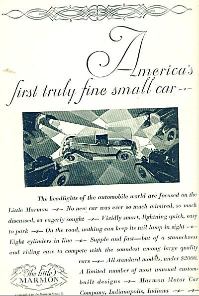 Marmon Automobile ad 1927 (Image1)
