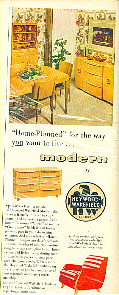1946 Heywood Wakefield AD Modern Furniture (Image1)