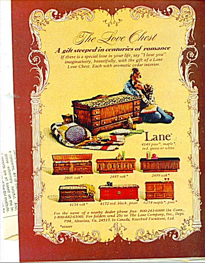 Lane Love chests ad  1974 (Image1)