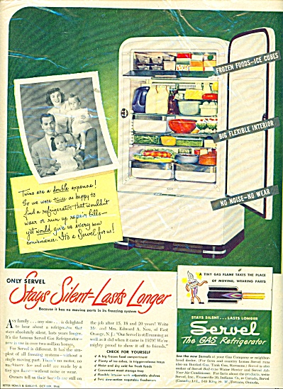 1948 Servel the gas refrigerator AD (Image1)