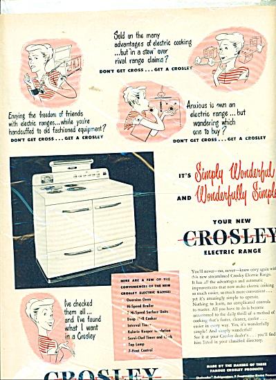 Crosley electric range ad 1948 (Image1)