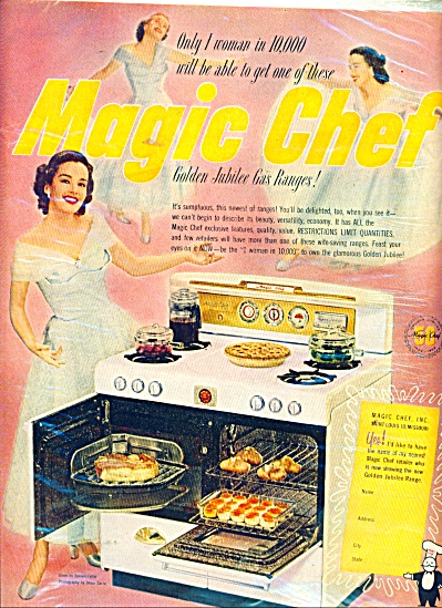Magic Chef gas range ad 1952 (Image1)