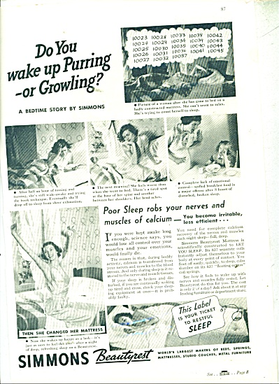 1937 Simmons Beautyrest mattress ad (Image1)