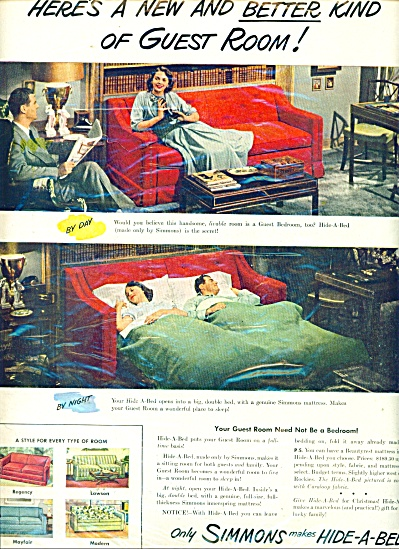 Simmons hide a bed ad (Image1)
