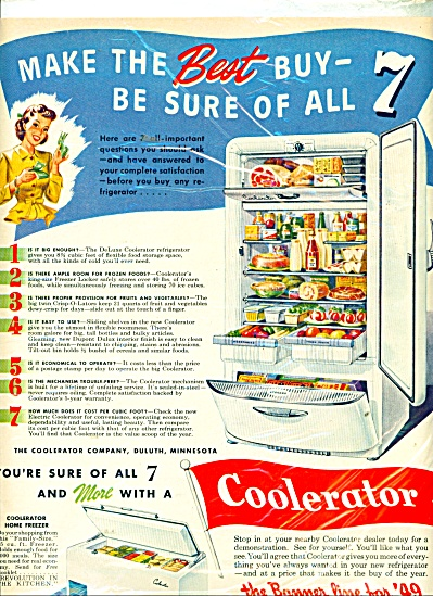 Coolerator Refrigerator and home freezer ad (Image1)