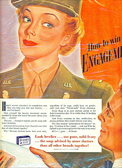 1973 IVORY SOAP WAAC Military WOMAN AD (Image1)