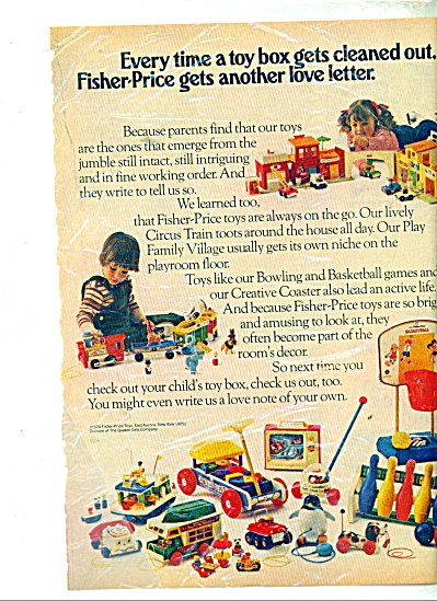 Fisher Price toys ad 1974 (Image1)