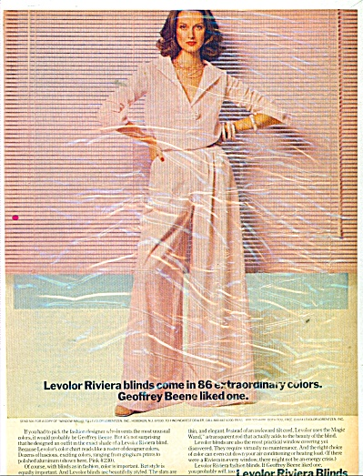 Levolor Riviera ad 1974 Geoffrey Beene HAMEL (Image1)