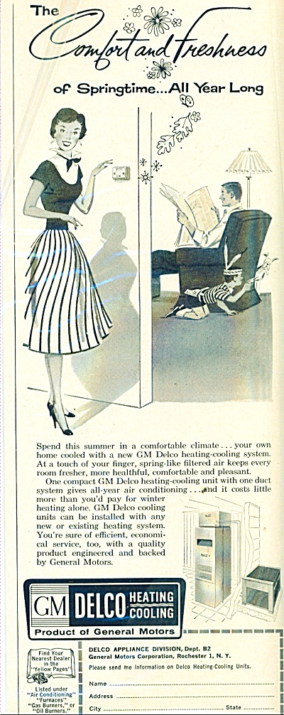 GM Delco Heating & cooling ad 1957 (Image1)