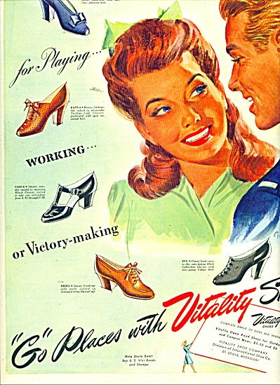 Vitality Shoes Ad 1943