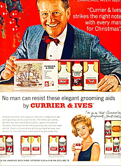 Currier & Ives grooming aids ad 1943 (Image1)