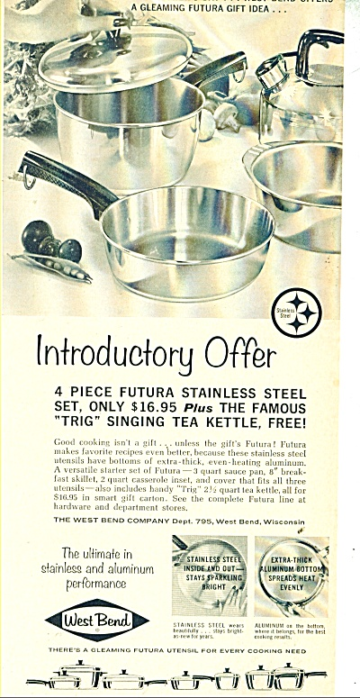 West Bend stainless steel set ad  1963 (Image1)