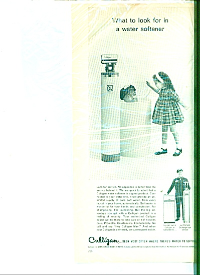 Culligan water softener  ad  1963 (Image1)