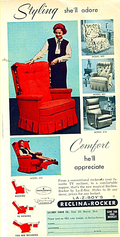 La-z-boys Reclina rocker ad   1963 (Image1)