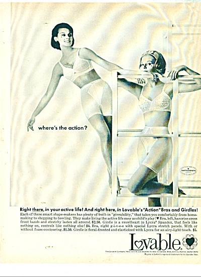 1963 Lovable Bra - Girdle Ad Fashion Models