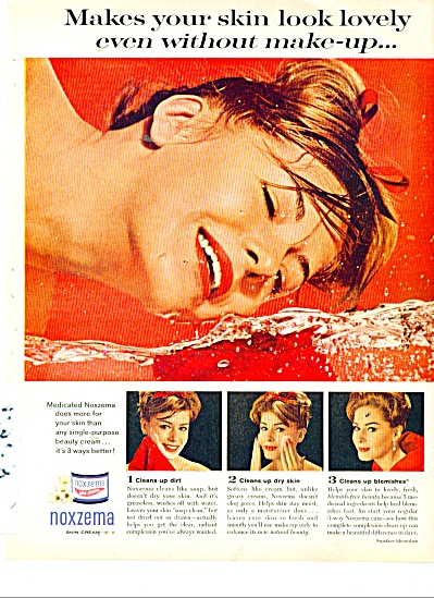 1963 NOXZEMA SKIN Cream AD (Image1)