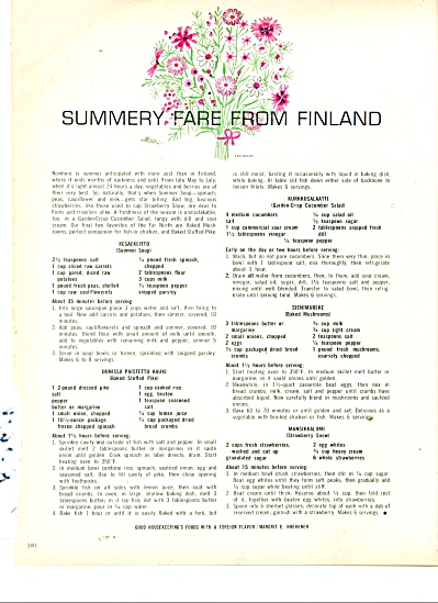 Summery fare from Finland ad 1963 (Image1)