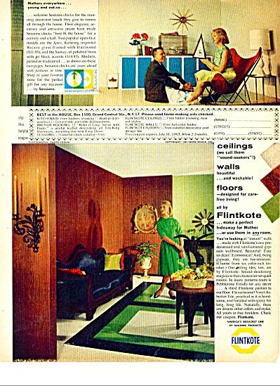 Flintkote ad  1963 Vinyl Asbestos Linoleum (Image1)