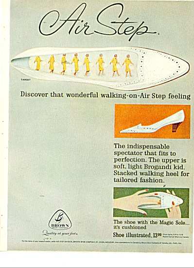 Air step magic shoe sole ad 1963 (Image1)
