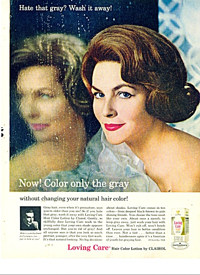 1963 Loving Care Hair Color Clairol ad (Image1)