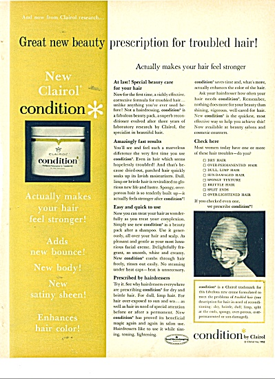 1963 CLAIROL CONDITION SARA THOM AD (Image1)