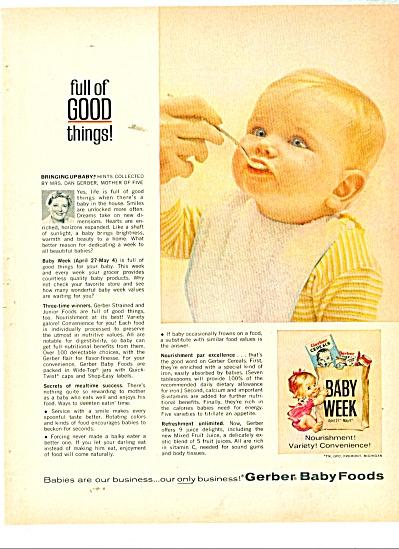 Gerber Baby foods ad 1963 (Image1)